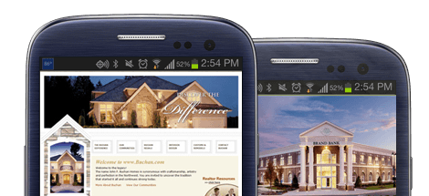mobile contractor websites