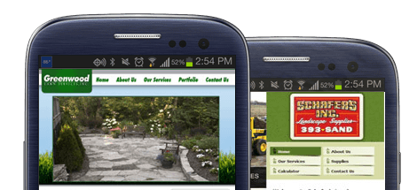 mobile landscaping websites