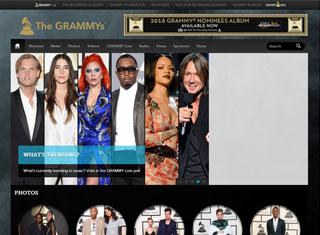Entertainment Web Design Design Example