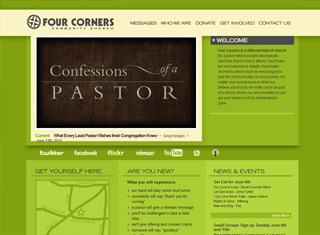 Church Website Design Ideas request free quote Four Corners Church