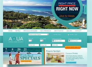 Great Website Design Ideas website designs exploration process entheos Aqua Resorts