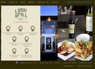 Restaurant Web Design Design Example