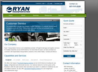 Simple Website Design Ideas web design ideas webdesign inspiration Ryan Transportation