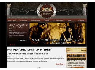 Paranormal Web Design Design Example