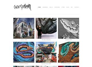 Artist Web Design Design Example