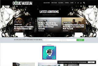 Paranormal Web Design Design Example