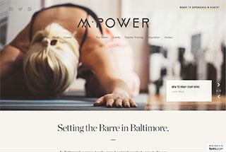 Sports Web Design Design Example