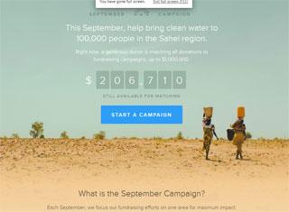 Charity Web Design Design Example
