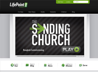 Church Website Design Ideas church website psd layout template Life Point Church