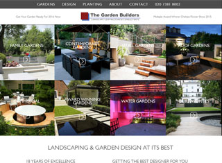 Landscaping Web Design Design Example