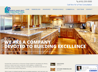 contractor web design design example