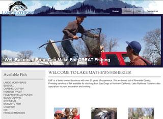 Dreamco design portfolio professional web design for Lake mathews fishing